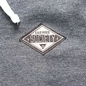Society Shirts - Society Live Free Zip Up Hoodie Size Small